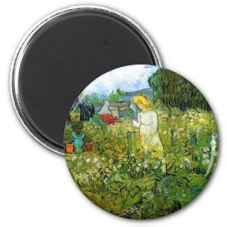 Marguerite Gachet in the Garden 6 Cm Round Magnet