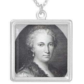 Maria Gaetana Agnesi Square Pendant Necklace