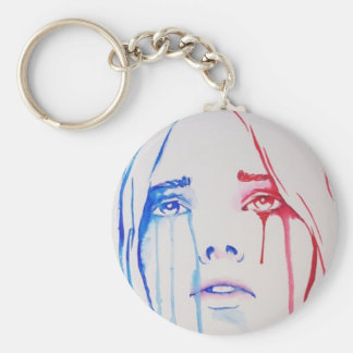 Marianne in tears basic round button key ring
