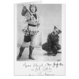 Marie Lloyd  as Dick Whittington in 1898 Greeting Card