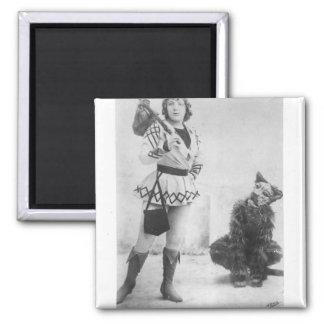 Marie Lloyd  as Dick Whittington in 1898 Square Magnet