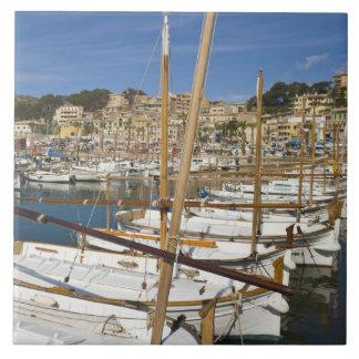 Marina, Port de Soller, West coast, Mallorca, Large Square Tile
