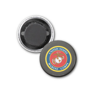 Marine Corps Seal 1 3 Cm Round Magnet