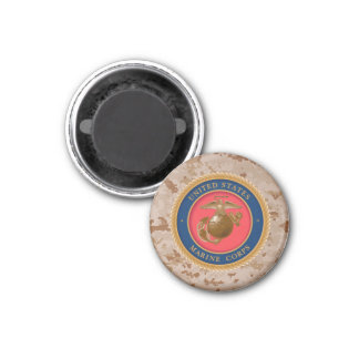 Marine Corps Seal 2 3 Cm Round Magnet