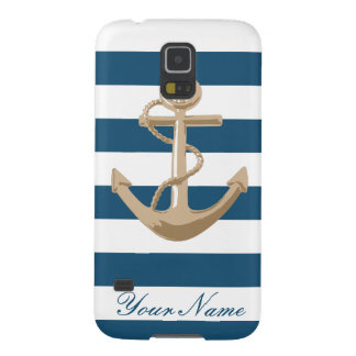 Maritime and Nautical with Anchor - Samsung Case For Galaxy S5