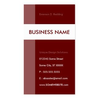 maroon streamline pack of standard business cards