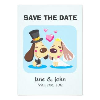 Married Dog Couple 13 Cm X 18 Cm Invitation Card