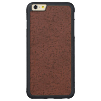 Marsala Cork Look Wood Grain Carved® Maple iPhone 6 Plus Bumper Case