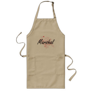 Marshal Artistic Job Design with Butterflies Long Apron