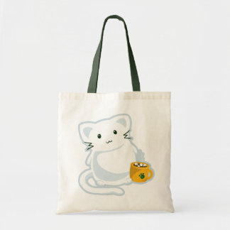 Marshmallow Kitn Budget Tote Bag
