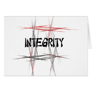 Martial Arts Integrity Note Card