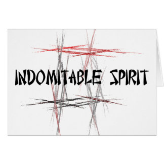 Martial Arts Tenets Indomitable Spirit Note Card