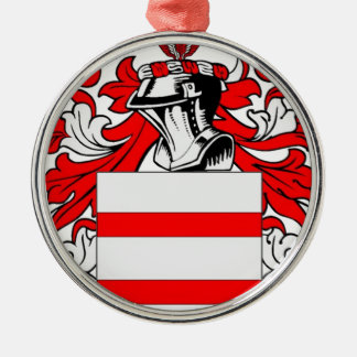 Martin (English) Coat of Arms Silver-Colored Round Decoration