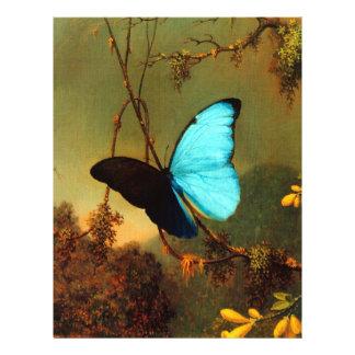 Martin Johnson Heade Blue Morpho Butterfly 21.5 Cm X 28 Cm Flyer