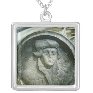 Martin Luther aged 57 with the Luther's Rose Square Pendant Necklace