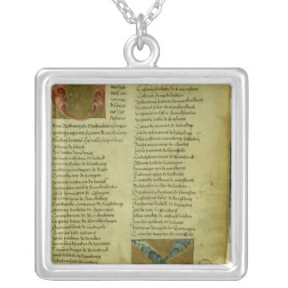 Martin Luther's enrolment sheet Square Pendant Necklace