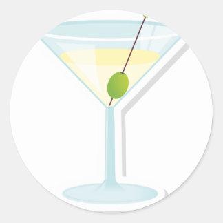 Martini Cocktail Round Sticker