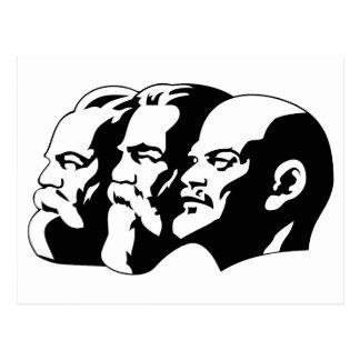 Marx, Engels and Lénin Postcard