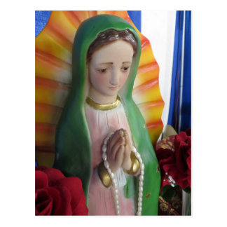 Mary Statue Postcard