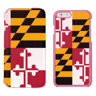 Maryland State Flag Colors Display Incipio Watson™ iPhone 6 Wallet Case