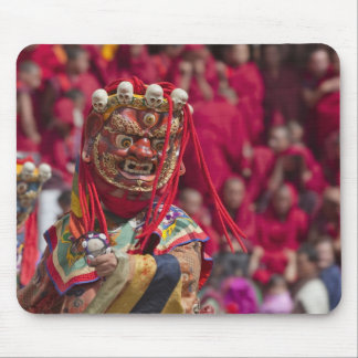 Mask dance performance at Tshechu Festival 3 Mouse Pad