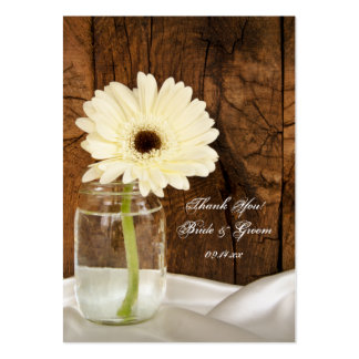 Mason Jar and Daisy Country Wedding Favor Tags Pack Of Chubby Business Cards