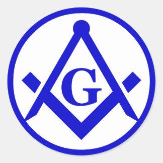 Masonic Lodge, NOT WATERPROOF Round Sticker