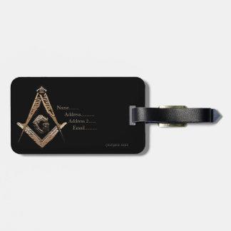 Masonic Minds (Golden) Luggage Tags