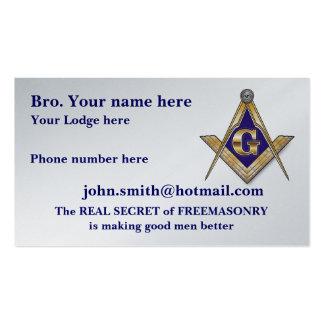 MASONIC / SHRINERS EMBLEM PACK OF STANDARD BUSINESS CARDS