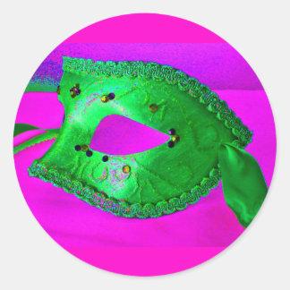 Masquerade Bash Round Sticker