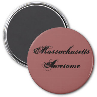 Massachusetts Awesome Quote 7.5 Cm Round Magnet