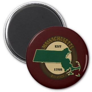 Massachusetts Est 1788 6 Cm Round Magnet
