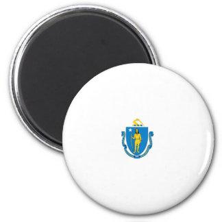 Massachusetts Official State Flag 6 Cm Round Magnet