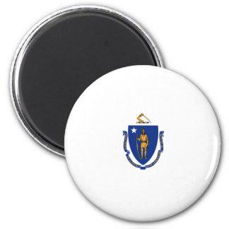 Massachusetts State Flag 6 Cm Round Magnet