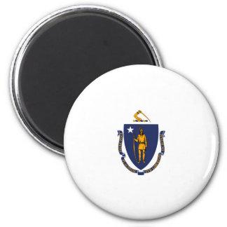 Massachusetts State Flag Design 6 Cm Round Magnet