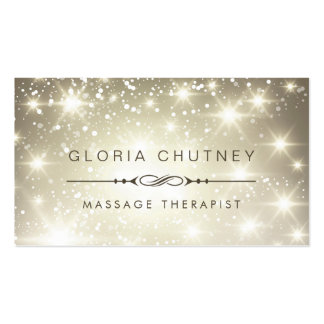 Massage Therapist - Sparkling Bokeh Glitter Pack Of Standard Business Cards