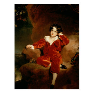 Master Charles William Lambton, 1825 Postcard