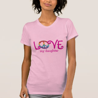 Matching Mom and Daughter Clothes - Peace & Love T Tshirts