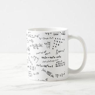 Math Formulas And Numbers Basic White Mug