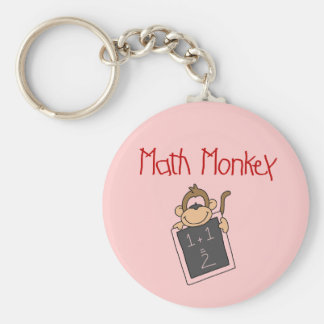 Math Monkey Tshirts and Gifts Basic Round Button Key Ring