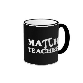 Math Teacher PI Ringer Mug