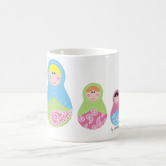 Matrioska trio pasley spring basic white mug