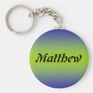 Matthew Basic Round Button Key Ring
