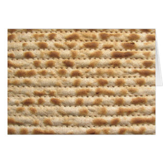 Matzah biscuit flatbread greeting card