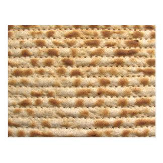 Matzah biscuit flatbread postcard