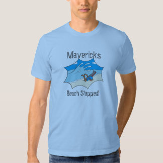 Mavericks Beach Slapped Surfer Wipe out? T Shirts