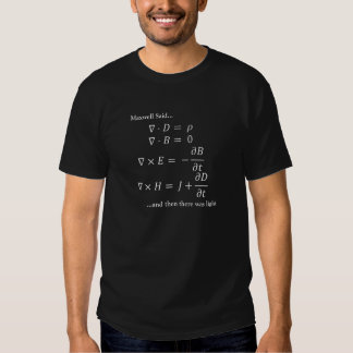 Maxwell Equations (Dark) Tee Shirts
