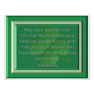 May Your Glass - Irish Blessing - Art Print