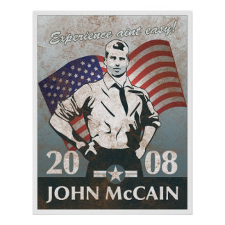 McCain Hero Vintage Poster