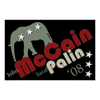 McCain Palin '08 Poster Banner